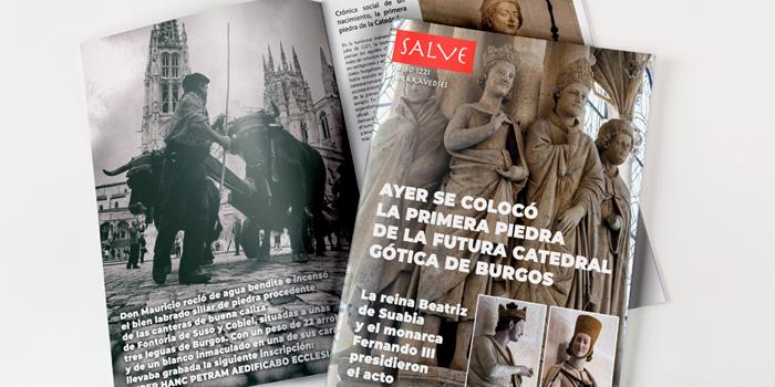 Crónica social de la colocación la primera piedra de la Catedral de Burgos